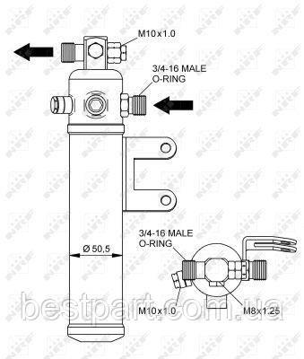 Фільтр осушувач для вантажівки MERCEDES-BENZ MK, SK OM356.940-OM446.948 07.87-