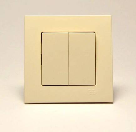 Eqona Выкл. 2-клав. крем, фото 2