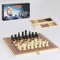 Шахматы деревянные С 36819 (48) 3 в 1, в коробке