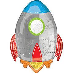 Фол шар фигура Ракета серебро (Анаграм)