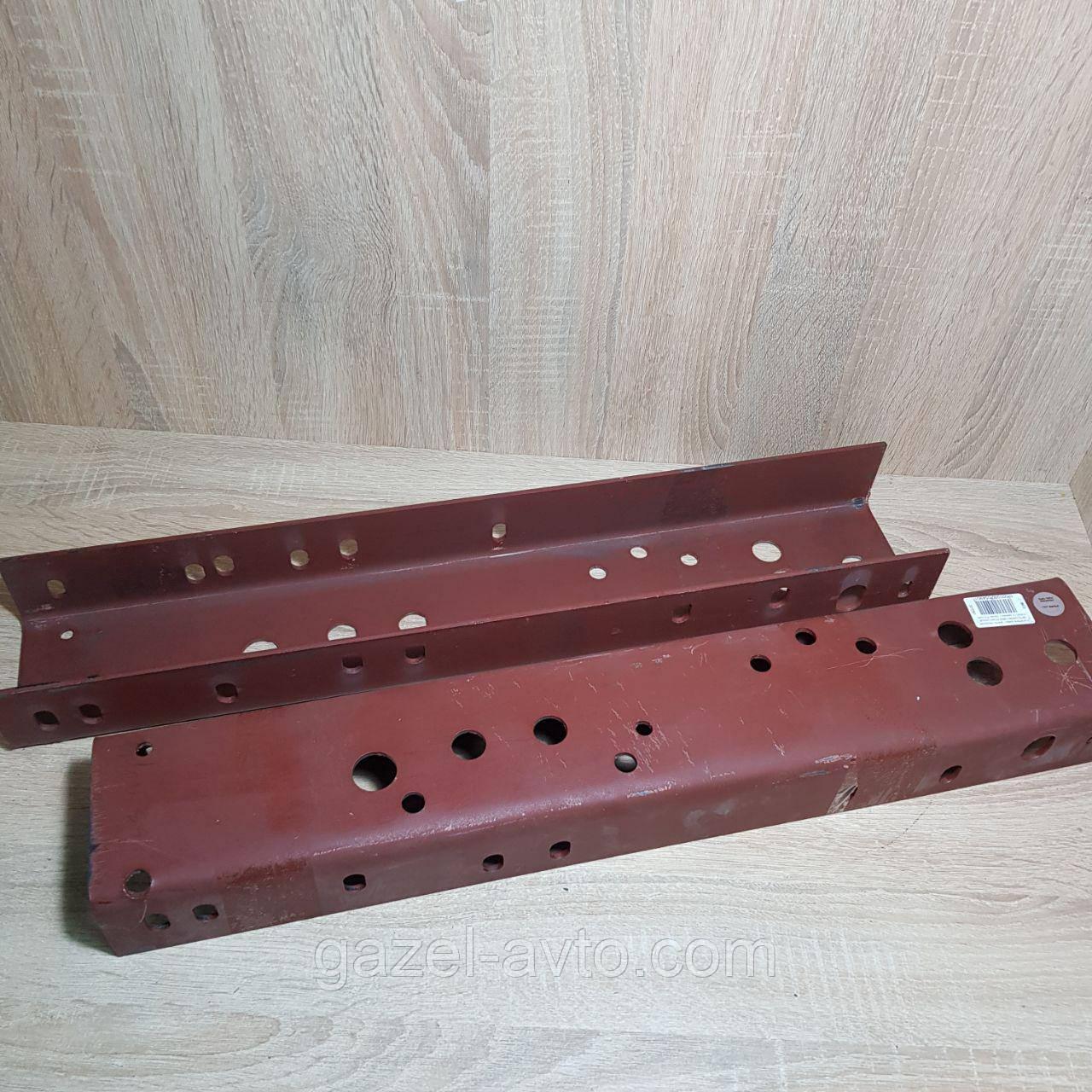 Усилитель рамы Газель передняя часть (ремвставка из рессорной стали, толщина=4,5мм) (2 наимен.) (пр-во Россия)