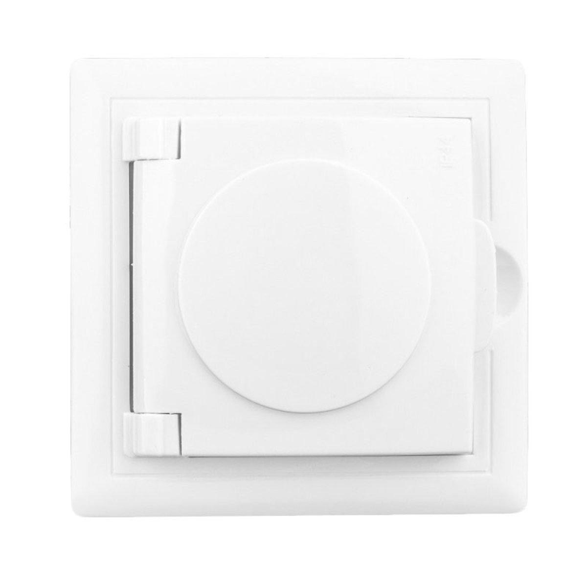 Розетка с заземлением и крышкой Lectris Белая LCI019