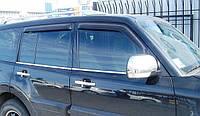 Молдинг стекла (стекольный хром) Mitsubishi pajero wagon IV (митсубиси паджеро вагон 4) 2005г+