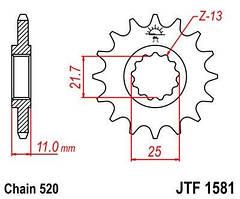 Звезда ведущая JT JTF1581.16