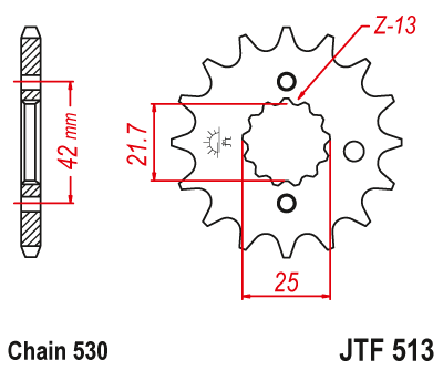 Звезда ведущая JT JTF513.15