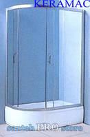 Душевая кабина VICTORIA-SATIN с глубоким поддоном,120*80*203см, правая, стекло 4мм.