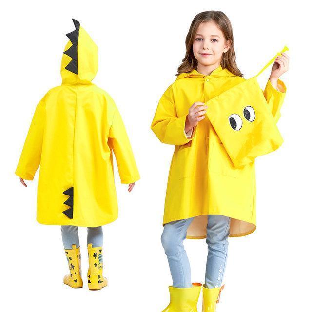 Детский дождевик Дракон Hubert L (Рост 100-110 см) Жёлтый