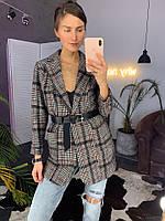 Женский удлиненный пиджак шерсть, фото 1