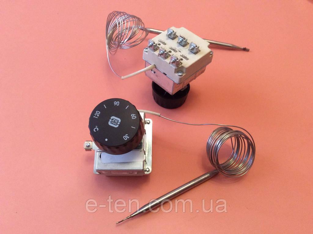 Терморегулятор трёхполюсный капиллярный MMG: Tmax=120°С / 20А - 250V / 16А - 400V / L=220см          Венгрия