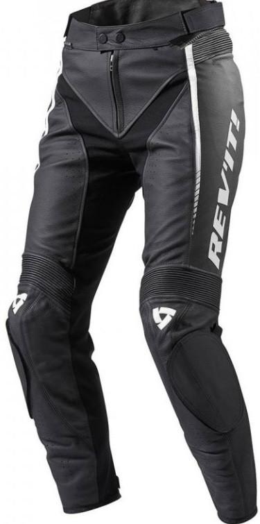 Брюки женские кожаные Revit Xena 2 черно-белые, 36