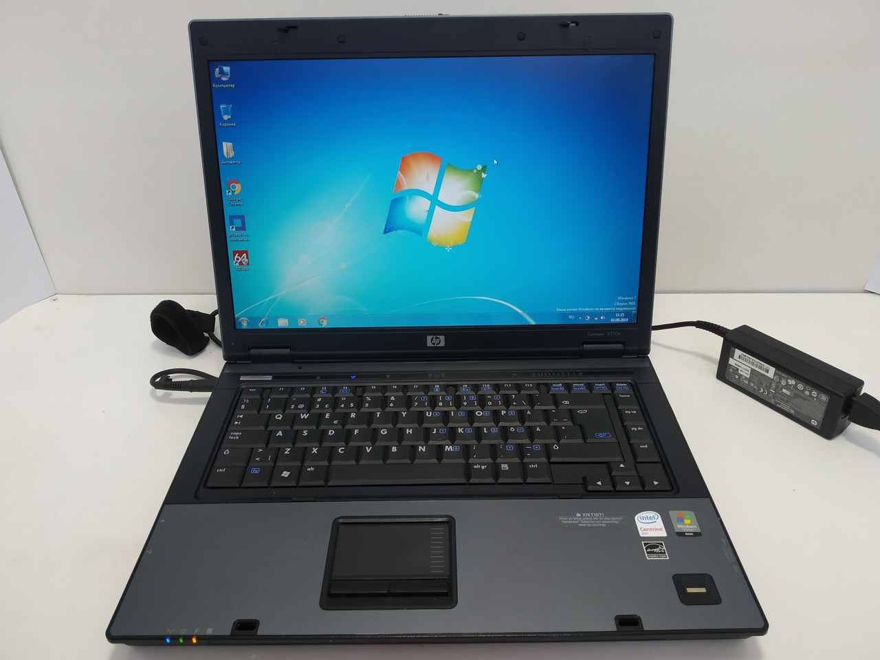 """15.4""""  HP compaq 6710b, 4 ГБ ОЗУ, 2 ядра Intel Т8100 2.1, 160GB, Настроен и готов к работе!"""