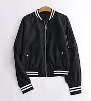 Куртка бомбер женская черная