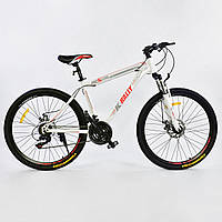 Велосипед Спортивный Corso K-Rally 26 дюймов 0010 - 8345 White-Red Собран на 75%