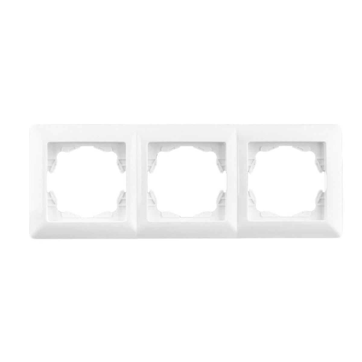 Тройная рамка Lectris Белая LCI026
