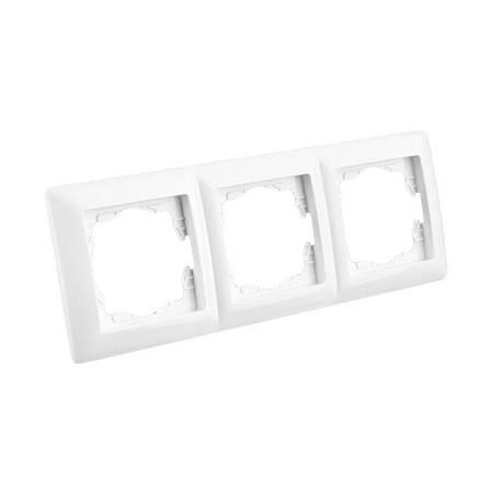 Тройная рамка Lectris Белая LCI026, фото 2