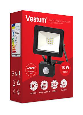 Прожектор LED Vestum с датчиком движения 10W 1 000Лм 6500K 175-250V IP65, фото 2