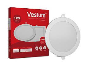 Світильник LED врізний круглий Vestum 12W 4000K 220V, фото 2