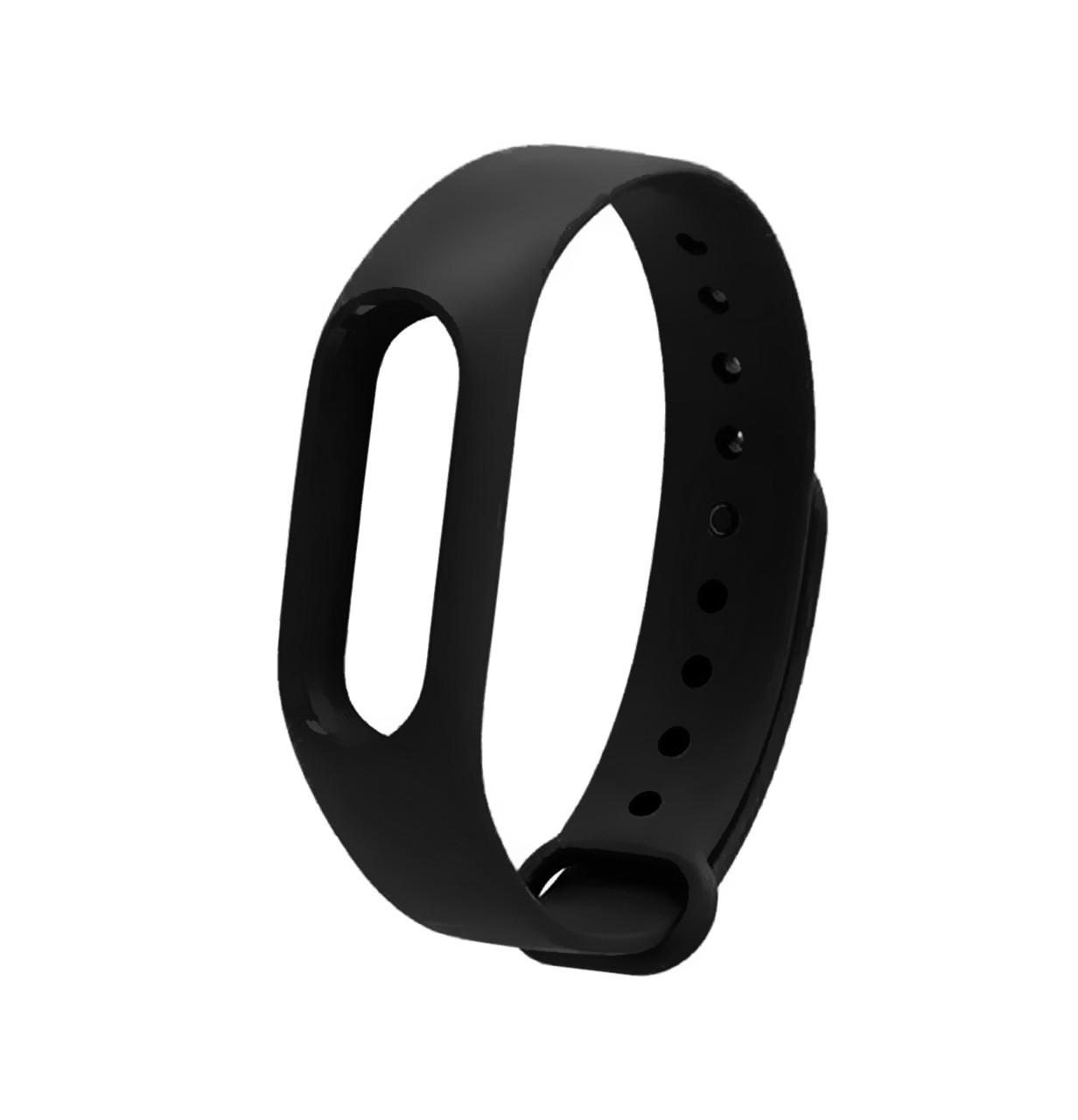 Ремешок Silicone для фитнес-браслета Xiaomi Mi Band 2 Black