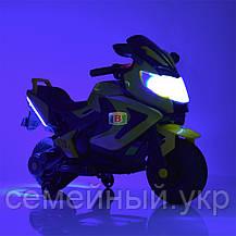Детский электромотоцикл. Световые и звуковые эффекты. USB,TF. Bambi M 3681AL-6, фото 2