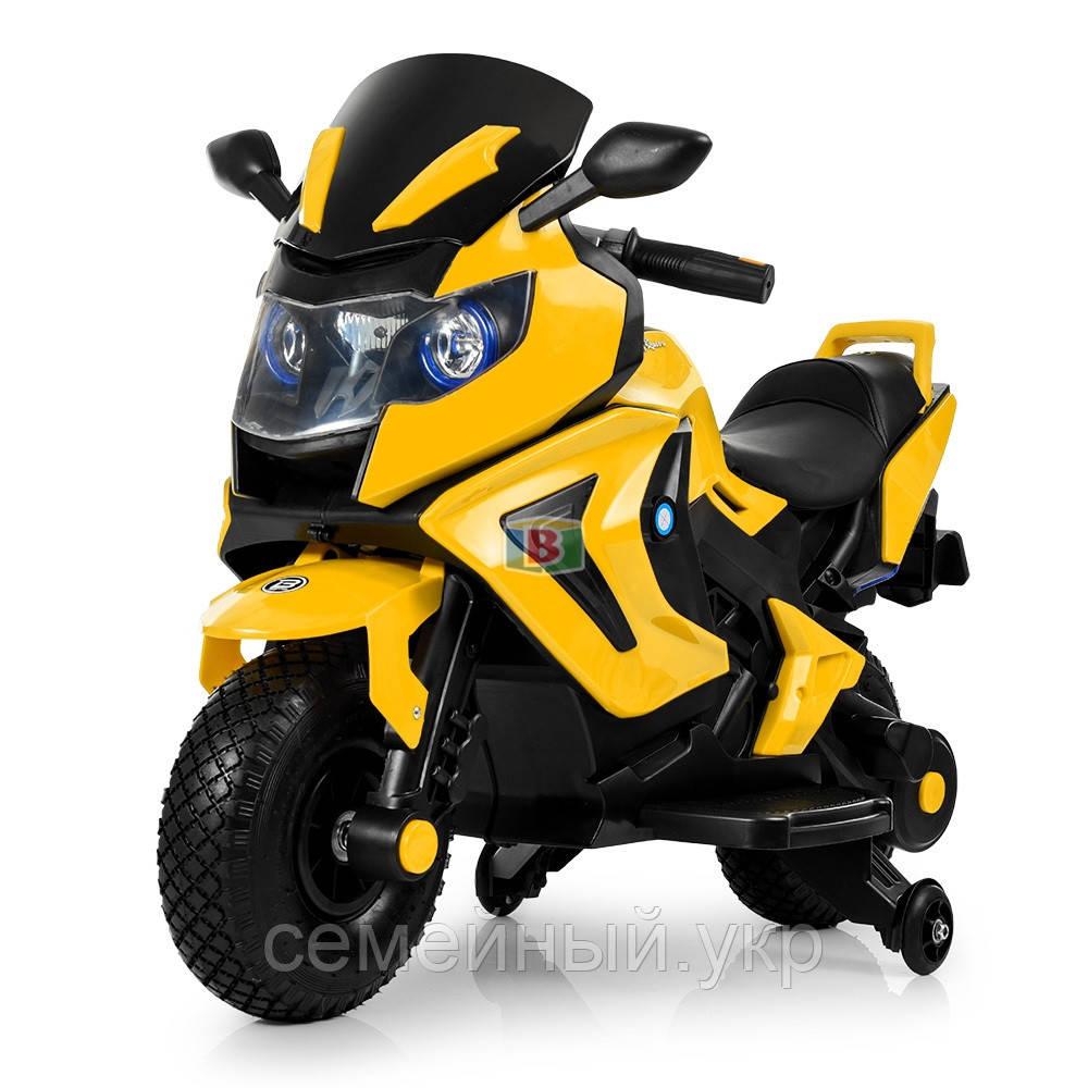 Детский электромотоцикл. Световые и звуковые эффекты. USB,TF. Bambi M 3681AL-6