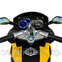 Детский электромотоцикл. Световые и звуковые эффекты. USB,TF. Bambi M 3681AL-6, фото 3