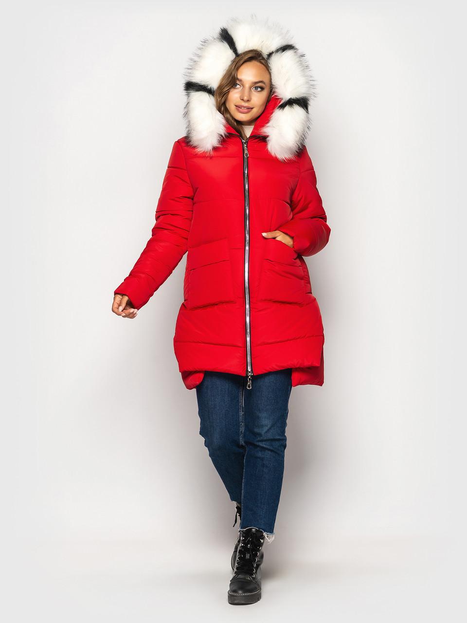 Зимняя куртка красная К 0079 с 01