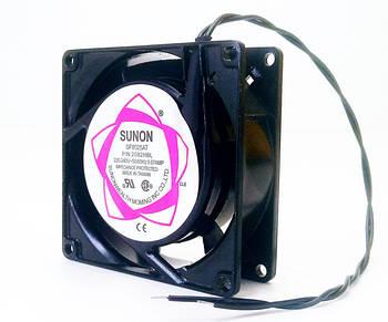 Вентилятор чорний алюмінієвий 80*80*25