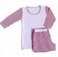 """Комплект спальный женский брюки с футболкой 3/4 PL 06 """"Ego"""" 95% хлопок цвет сиреневый"""