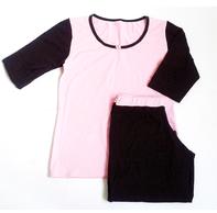 """Комплект спальный женский брюки с футболкой 3/4 PL 07 """"Ego"""" 95% хлопок цвет розовый"""