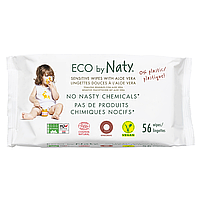 Органические салфетки Eco by Naty с алоэ 56 шт, фото 1
