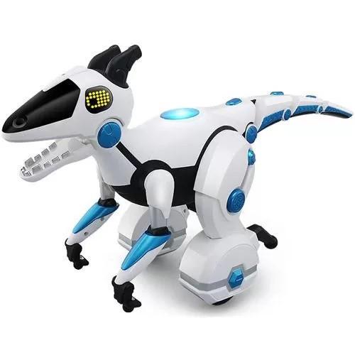 Радіокерована іграшка SUNROZ Smart Mechanical Dino Toy іграшковий динозавр на р/к Білий (SUN5434)