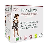 Органические салфетки Eco by Naty без запаха 168 шт (3 упаковки в 1), фото 1