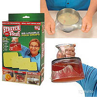 Стрейчевые пленки для сохранения свежести продуктов Stretch and Fresh Стрейч энд Фреш Силиконовые крышки