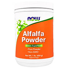"""Люцерна NOW Foods """"Alfalfa Powder"""" чистый порошок (454 г)"""