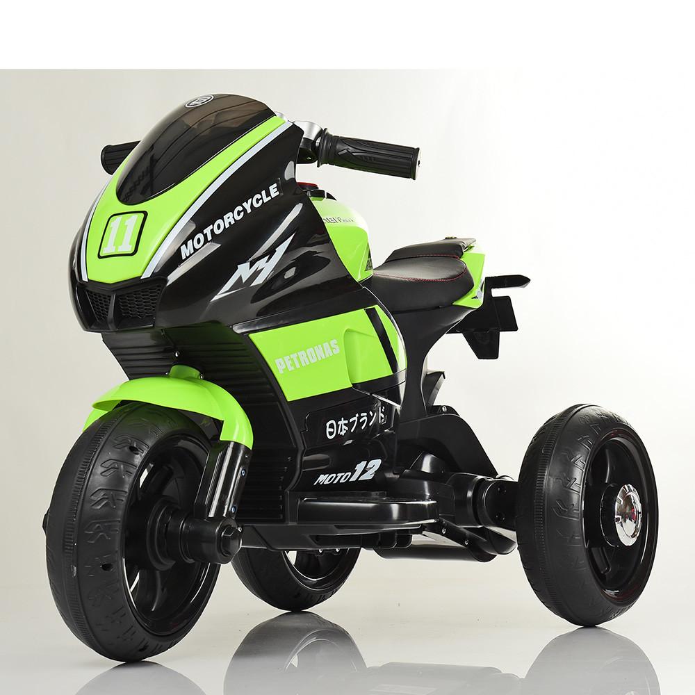 Дитячий електромобіль Мотоцикл M 4135 L-5, Шкіра Світло коліс, зелений