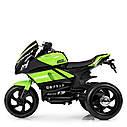 Дитячий електромобіль Мотоцикл M 4135 L-5, Шкіра Світло коліс, зелений, фото 2
