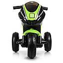 Дитячий електромобіль Мотоцикл M 4135 L-5, Шкіра Світло коліс, зелений, фото 3