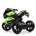 Дитячий електромобіль Мотоцикл M 4135 L-5, Шкіра Світло коліс, зелений, фото 4