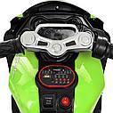 Дитячий електромобіль Мотоцикл M 4135 L-5, Шкіра Світло коліс, зелений, фото 5