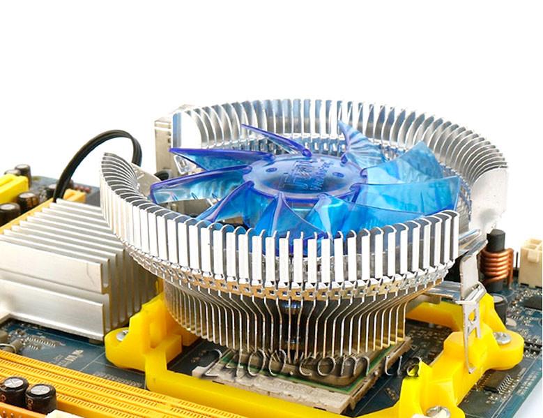 Кулер процессорный универсальный (Intel/AMD) с подсветкой, система охлаждения CPU + термопаста
