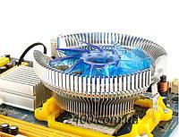 Кулер процессорный универсальный (Intel/AMD) с подсветкой, система охлаждения CPU + термопаста, фото 1