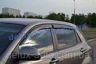 Вітровики Cobra Tuning на авто Ssang Yong Actyon 2010 Дефлектори вікон Кобра для Санг Йонг Актіон з 2010