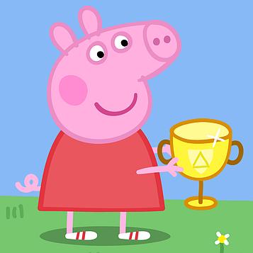 """""""Свинка Пеппа"""" - Наклейка на Сок 6,5*8,5 см."""