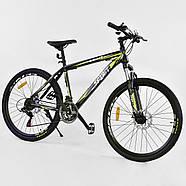 Велосипед Спортивный Corso Spirit 26 дюймов JYT 001 - 2261 Black-Yellow Собран на 75%, фото 2