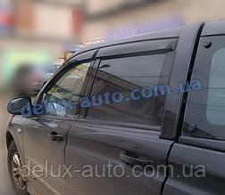 Ветровики Cobra Tuning на авто Ssang Yong Actyon Sports 2008 Дефлекторы окон Кобра для Санг Йонг Актион Спортс