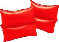 Приспособление для безопасных водных игр, нарукавники 59640, на дошкольников, двухкамерные, алого цвета