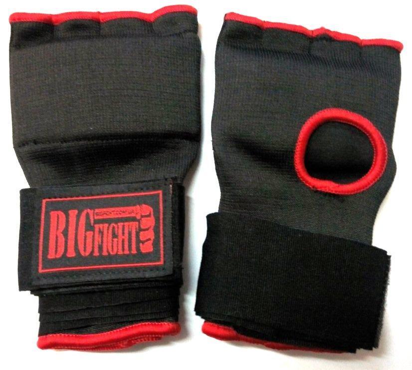 Бинты-накладки Bigfight гелевые размер L/XL Черно-красные