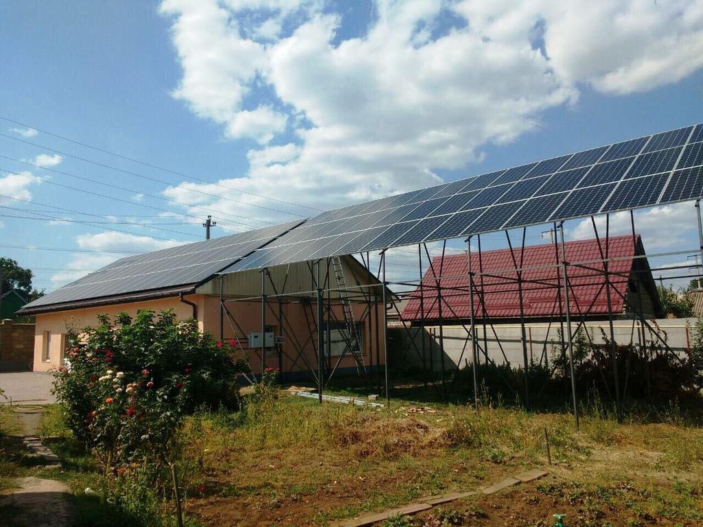 """Кривой Рог солнечная электростанция под """"зеленый"""" тариф мощностью 36 кВт Leapton + Huawei Днепропетровская область"""