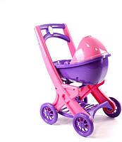 Коляска для кукол DoIoni Розовая с Фиолетовым