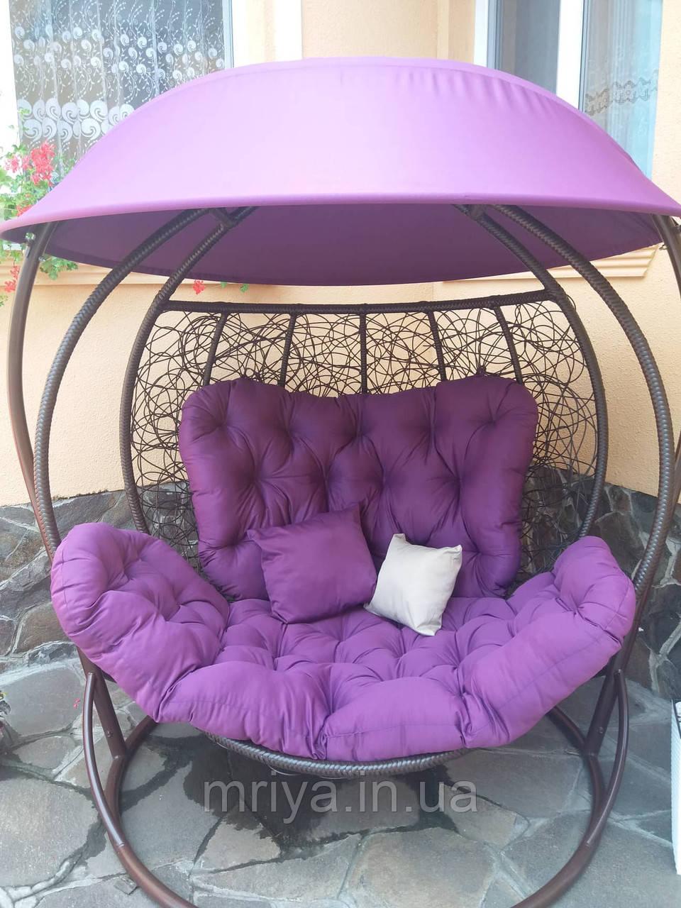 Гойдалка кокон двомісна фіолетова